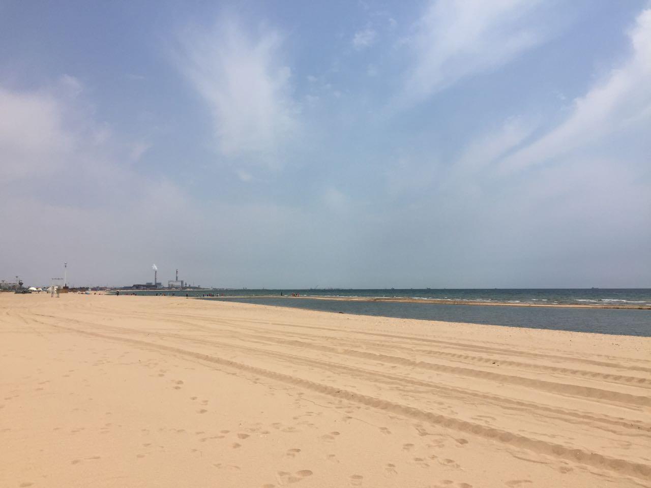 东戴河的海滩