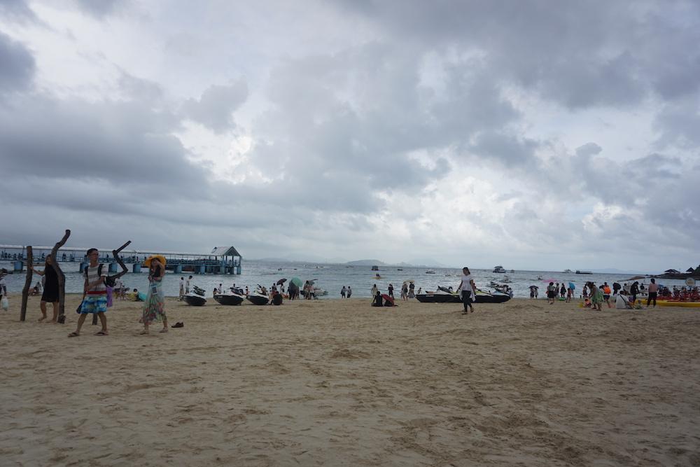 蜈支洲岛的海滩