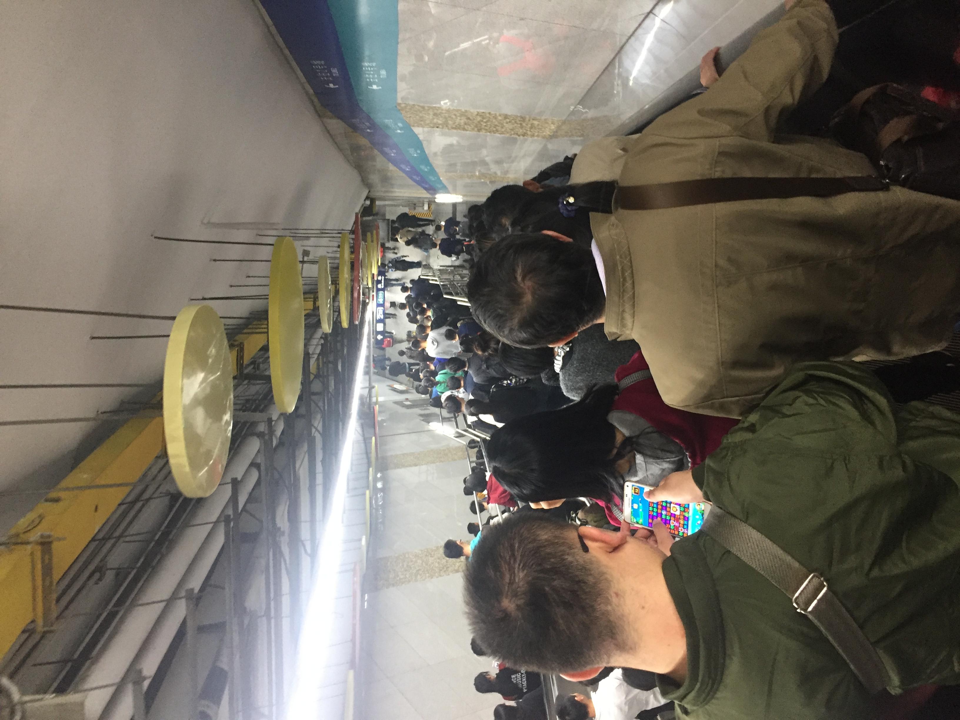 18:42去北京西站的地铁换乘路上